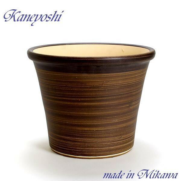 安くて丈夫 おしゃれ 植木鉢 陶器 サイズ 【33cm】 ブーケ ブラウン 10号