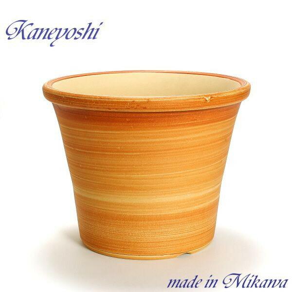 安くて丈夫 おしゃれ 植木鉢 陶器 サイズ 【33cm】 ブーケ オレンジ  10号