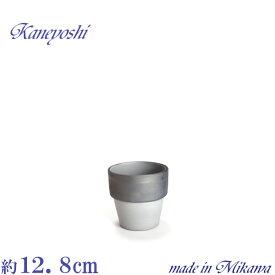 植木鉢 陶器 おしゃれ サイズ 4号 安くて植物にイイ ライフ ダークシルバー 12cm