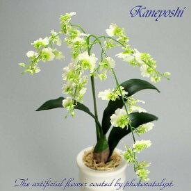 お祝い 造花 フラワーギフト 光触媒オンシジューム 1本立 ホワイトグリーン
