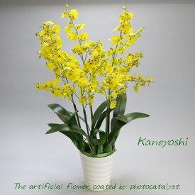 お祝い 造花 フラワーギフト 光触媒オンシジューム 5本立 イエロー