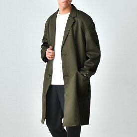 スプリングコート メンズ ビッグシルエットチェスターコート 春コート 薄手 シンプル キレイめ 大人カジュアル/oc1158/2カラーS〜XL