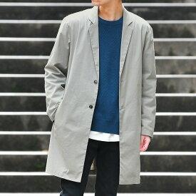 スプリングコート メンズ シャツチェスター 春コート 薄手 シンプル キレイめ 大人カジュアル/oc1354/3カラーS〜XL