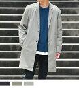 スプリングコート メンズ チェスター 春コート 春 ライトアウター アウター シャツ ロングコート/oc1354/3カラーS〜XL