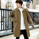 コート メンズ 撥水ステンカラーコート シンプル キレイめ 大人カジュアル/oc1563/全2色XS〜XXL