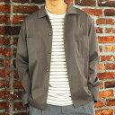 ジャケット メンズ 長袖CPOシャツジャケット シンプル カジュアル シャツ 春アウター/oj1390/2カラーS〜XL