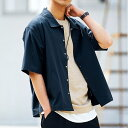 シャツジャケット メンズ TR半袖コーチシャツ ライトアウター トップス/oj1410/3カラーS〜XL