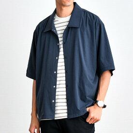 シャツジャケット メンズ TR半袖コーチシャツ ライトアウター トップス/oj1410/全3色S〜L
