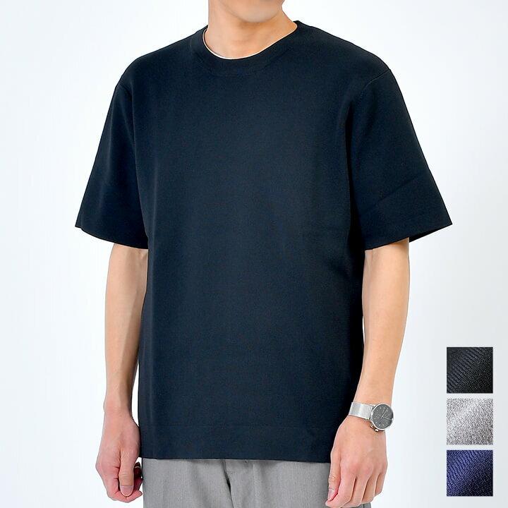 洗える半袖サマーニット 大人向け トップス/t387(tn1106) -tn0034/3カラーS.M.L.XL