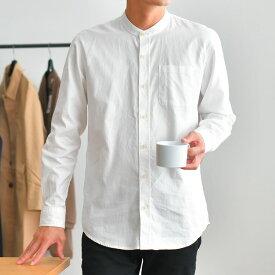 バンドカラーシャツ/ts0290-t290/2カラーS〜XL