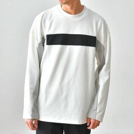 【アウトレット商品の為、返品不可】ブロッキング長袖Tシャツ カットソー トップス/tt1284/2カラーS〜L
