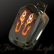 炎型テールランプアメリカンテイスト汎用ナンバー灯ステー付マグナ個性派のあなたに