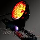 バイク テールランプ ビンテージ レトロ LED 丸目 黒 ブラック バイク用 テールランプ/カスタム仕様/おしゃれ/SR/TW/個性派のあなたに
