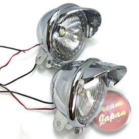 LEDフォグランプ イカリング付き 交換など 本体レンズのみ/左右2個セット/樹脂製 軽量/アメリカン/ドラッグスター/スティード/ビラーゴ