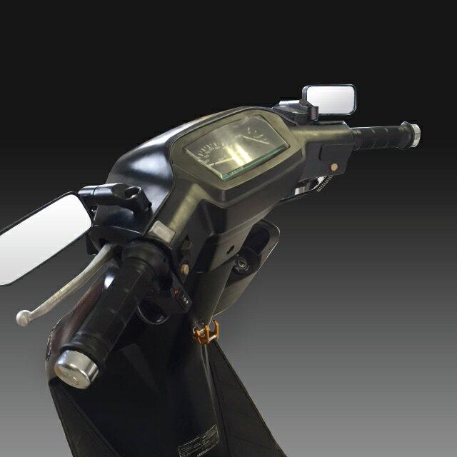 【バイクミラー】バイク ミラー バレン スクエアー/汎用/ローポジション/角度自在/正ネジ逆ネジ変換ボルト5種/選択可【ブラック・カーボン・メッキ】/原付/バリオス/XJR/スクエアミラー/スクエアーミラー/スクエアタイプ