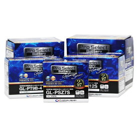 バイク バッテリー SR125 トレーシー125 SR400 500 /Pro Select Battery GL-PB7L-B (YB7L-B 互換) (ジェルタイプ 液入充電済)【取り寄せ】