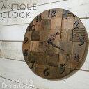 [アイアン雑貨]アイアン アンティーククロック(壁掛け時計)【送料無料】古材を使った時計 引っ越祝いのギフトにも最適…