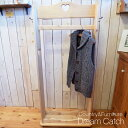 [カントリー家具]キャスター付きハンガーラック(木製ハンガースタンド)アンティーク ナチュラル デザイン家具[完成品]
