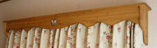 カントリー家具カーテンボックスW300〜900【ハートのくりぬき】