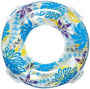 男女問わず大人が使えるサイズ 120cm トライバルパール ブルー 浮輪 浮き輪 うきわ ウキワ ロープ付き プールや海水浴に 大人用