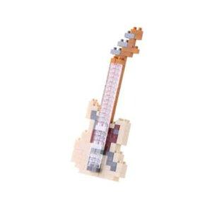 ナノブロック エレキギター アイボリー nanoblock nanoブロック マメログ mamelog ダイヤブロック おもちゃ 知育玩具