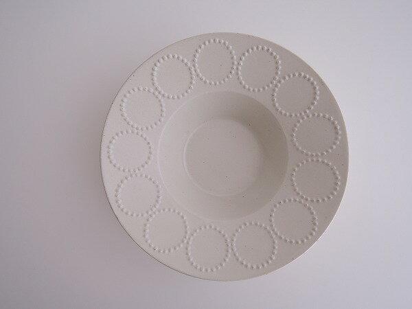 ミナペルホネン mina perhonen tambourine 深皿 ホワイト【中古】【82H81】【高価買取中】【店頭受取対応商品】