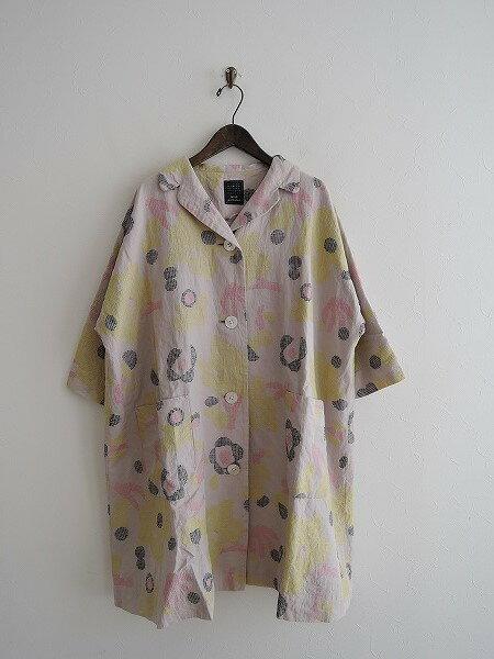 ミナペルホネン mina perhonen morning gardenコート 36【中古】【32H81】【高価買取中】【店頭受取対応商品】