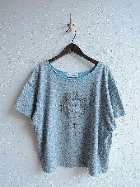 ミナペルホネン mina perhonen madame liona フロッキープリントTシャツ 38【中古】【71I81】【高価買取中】【店頭受取対応商品】