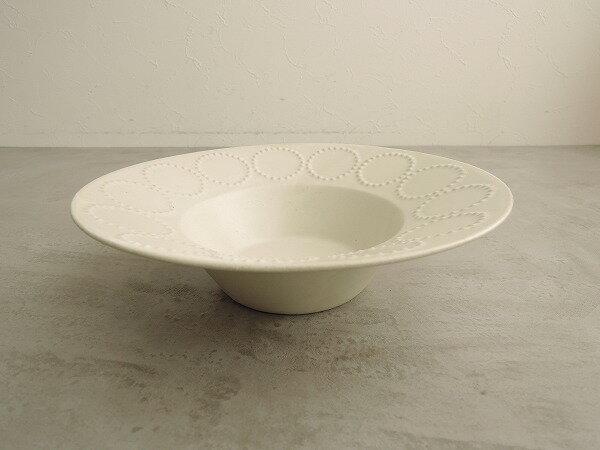 ミナペルホネン mina perhonen tambourine 深皿 ホワイト【中古】【80A91】【高価買取中】【店頭受取対応商品】