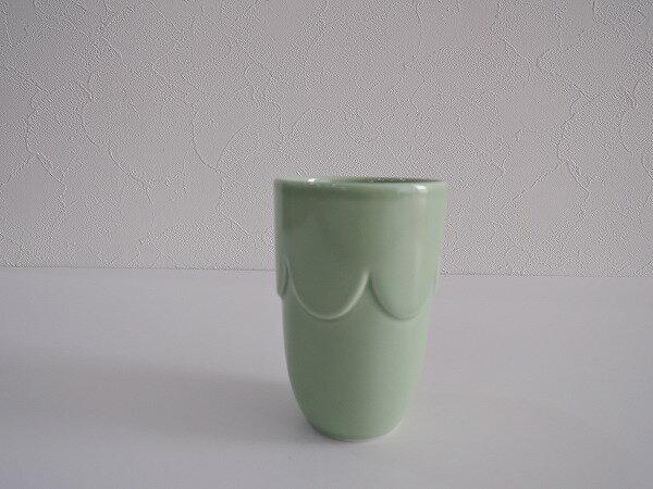 ミナペルホネン mina perhonen pudding カップ グリーン【中古】【80A91】【高価買取中】【店頭受取対応商品】