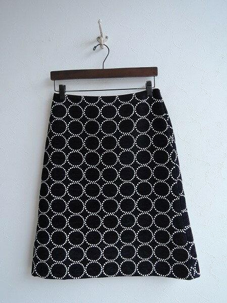 ミナペルホネン mina perhonen tambourine コットンウール混スカート 36【中古】【12A91】