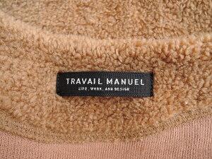トラバイユマニュエル TRAVAIL MANUEL コットン混ボアコート -【中古】【42I91】