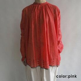 【新品】 ペロ pero cotton Jamdani blouse ジャムダニ織ブラウス 38【中古】【80J02】【高価買取中】