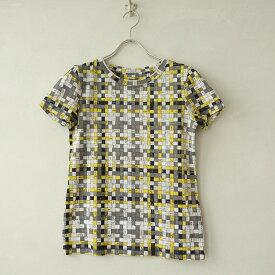 【美品】 エルメス HERMES ボルデュックチェックTシャツ 34【中古】【12I02】【高価買取中】