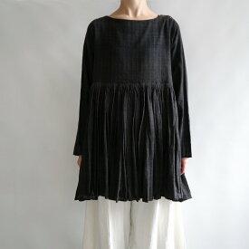【新品】 マクテキスタイルズ maku textiles Po'ouli ギャザーブラウス【中古】【高価買取中】