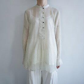 【新品】 ペロ pero dot cotton blouse (white) ドット柄 コットンブラウス 38【中古】【92L02】【高価買取中】