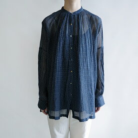 【新品】 ペロ pero dot blouse (navy) ドット柄ブラウス 38【中古】【80A12】【高価買取中】