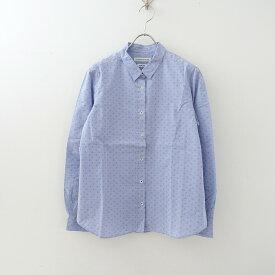 マリンフランセーズ LA MARINE FRANCAISE アンカーマーク刺繍コットンスタンダードシャツ 2【中古】【32D12】【高価買取中】