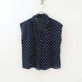 ヒューマンウーマン HUMAN WOMAN ドットプリントボックスオープンカラーシャツ M【中古】【32D12】【高価買取中】