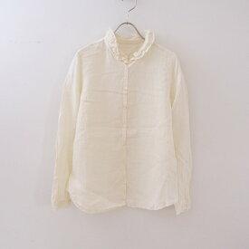 ネストローブ nest Robe リネンフリルカラーシャツ -【中古】【32D12】【高価買取中】