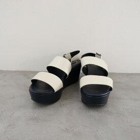 ジェイアンドエムデヴィッドソン J&M DAVIDSON レザーバックストラップウェッジソールサンダル 37/23.5 37(約23.5cm)【中古】【12D12】【高価買取中】