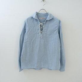 ブロカント Brocante コットンシャンブレーレースアップシャツ 2【中古】【32D12】【高価買取中】