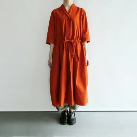 【新品】 アッシュプリュス アノー ヴェセル H+ HANNOH WESSEL Dress Rosalba オレンジワンピース 38【中古】【91D12】【高価買取中】