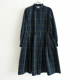 オールドマンズテーラー R&D.M.Co- タータンチェックボックスプリーツシャツドレス -【中古】【91D12】【高価買取中】