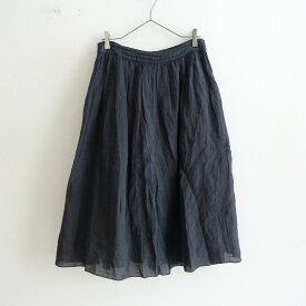 ネストローブ nest Robe リネンギャザースカート -【中古】【91D12】【高価買取中】
