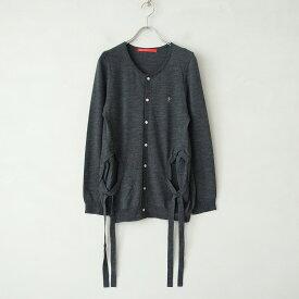 ミントデザインズ mint designs ウールニットリボンポケットカーディガン -【中古】【12D12】【高価買取中】