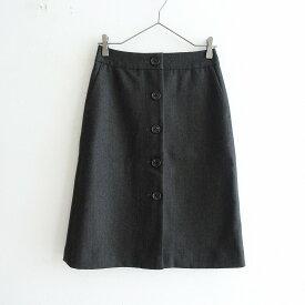 マーガレットハウエル MARGARET HOWELL ウールヘリンボーン前開きスカート 1【中古】【12D12】【高価買取中】