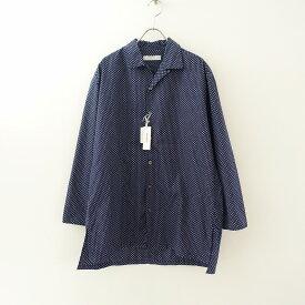 【美品】 ホームスパン homspun 100/2ブロード小花プリントオープンカラーシャツ F【中古】【91D12】【高価買取中】