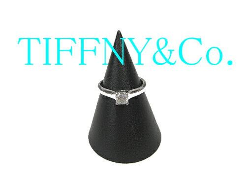 ティファニー プラチナ ダイヤモンド リング TIFFNY&Co 【中古】【送料無料】美品