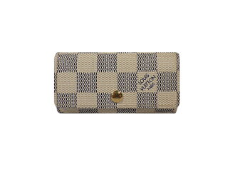 Louis Vuitton Damier Azur 4-key case N60020 multicore 4 LOUIS VUITTON 4 books for key case